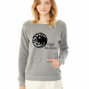 Targaryen Sigil and Motto ladies sweatshirt