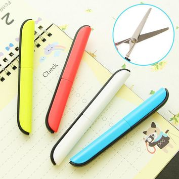 Crafting portable scissors paper-cutting  folding safety scissors mini stationery scissors  office and school hand cut supplies
