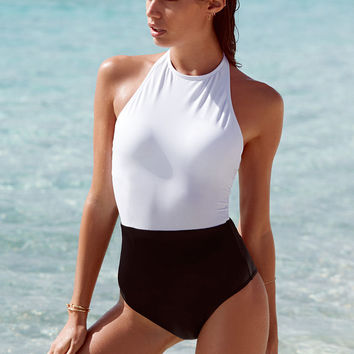 Colorblock High-neck One-piece - Victoria's Secret Swim - Victoria's Secret