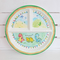 Copy of Baby Cie Sweet as Honey Round Textured Sectioned Plate for Baby