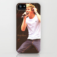 One Direction Niall Horan Singing On Stage  iPhone Case by Toni Miller | Society6