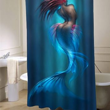 artwork of mermaids shower curtain - myshowercurtains