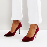 Head Over Heels by Dune Alana Velvet Pointed Court Shoes at asos.com