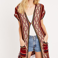 Denim & Supply Ralph Lauren - Cardigan sans manches à franges - Urban Outfitters