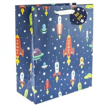 Rocket Ships Large Gift Bag
