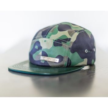 Camo Get A What What 5 panel hat