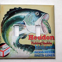 Double Light Switch Cover - Light Switch Heddon Lures Fishing Fish