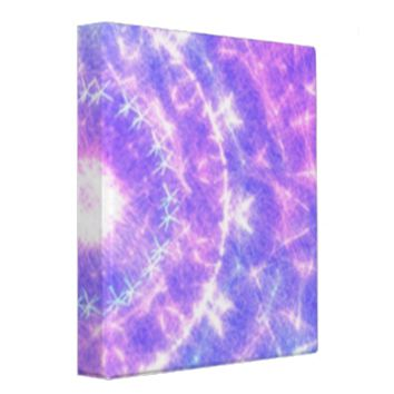 Bright colored abstract pattern binder