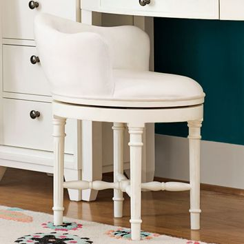 MINNIE STOOL, WHITE WITH SNOW WHITE CUSHION