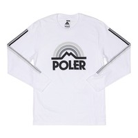 Poler Stuff Mountain Rainbow Long Sleeve T-Shirt - White