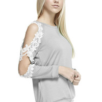 Crochet Lace Open Sleeve Top
