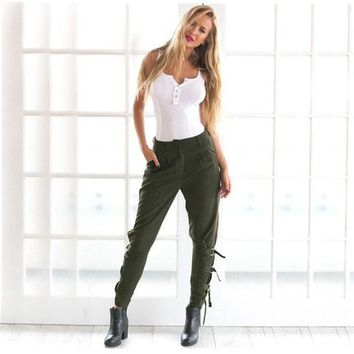 LMFUG3 Sports Casual Women's Fashion Hot Sale Winter Green Pants [9456555140]