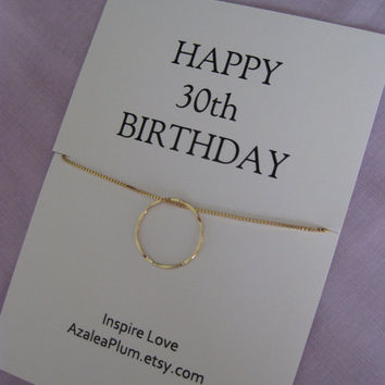 30th BIRTHDAY GIFT for Sister, GOLD Eternity Circle Birthday gift for Her, Sister jewelry. 30th Birthday Gift for Her. 3 Sisters Gift
