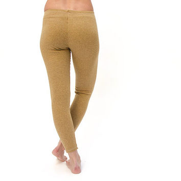 Heater Mustard wool  winter leggings