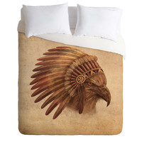 Terry Fan Eagle Chief Duvet Cover