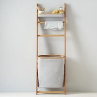 Bamboo Leaning Bath Shelf