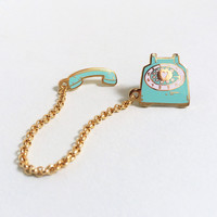 Rotary Dial Telephone Lapel Pin - Mint
