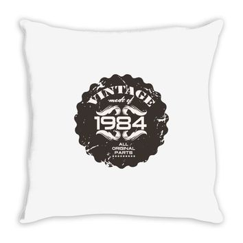 vintage made of 1984 all original parts Throw Pillow