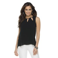 Kardashian Kollection Women's Tulip Back Sleeveless Top