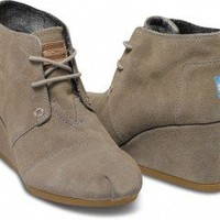 Taupe Suede Women's Desert Wedges | TOMS.com