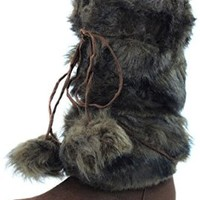 Women's DailyShoes Warmer-02 Mukluk Boots Faux Fur Round Toe Ankle High Winter Bootie