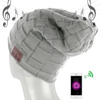 new wireless bluetooth headset hat knitted bluetooth cap headphone warm winter hats