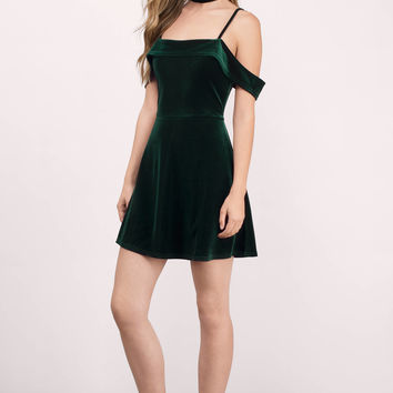 A Fiction Velvet Skater Dress