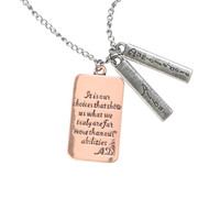Harry Potter Albus Dumbledore Quote Necklace