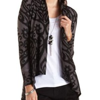 Paisley Print Open Front Cardigan by Charlotte Russe
