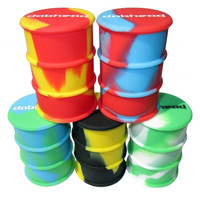 3 Large Non Stick Silicone Oil Drum Barrel Containers Dab Jar