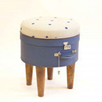 Hatbox Ottoman – Blue Dot 191 ? Furniture ? Recreate