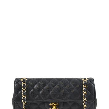 Chanel Black Caviar Flap Shoulder Bag
