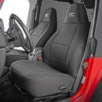 Jeep Wrangler TJ Seat Covers Black Neoprene Seat Cover Set (1997-2006)