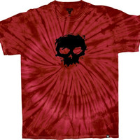 Zero Fallen Blood Skull Tee Small red Tie Dye
