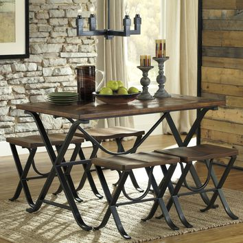 Walton 5 PC Rustic Dining Table Set