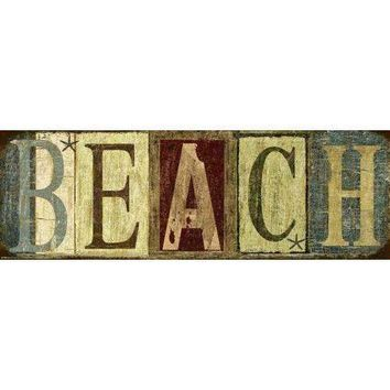 Weathered Beach Sign