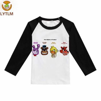LYTLM Kids Clothing for Girls  at   Freddy Fall Tops long Sleeve Tee Shirt Fille vetement enfant garcon