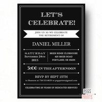 Retirement Party Invitation for Men or Women - PRINTABLE Retirement Party Invites - Farewell Invitation - Farewell Party Invitation for Guys