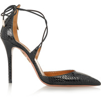 Aquazzura - Matilde elaphe pumps