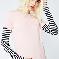 Conflicting Pulse Layered Long Sleeve Top