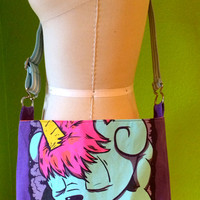 Blood On The Dance Floor Bag Upcycled T-Shirt Crossbody Bag