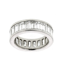 - Diamond-Rings-Dallas-Tx - 5.5 Carat Emerald Cut Diamond Platinum Eternity Band Dallas