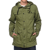 Empyre Riot Olive M65 Field Hooded Jacket at Zumiez : PDP
