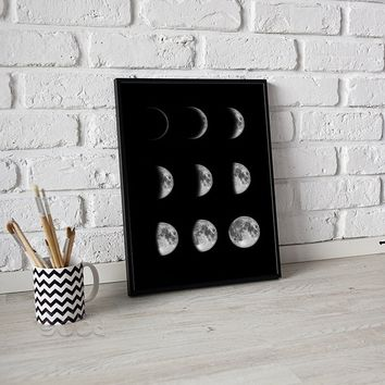 """""""moon phases""""  Canvas Art Print Poster,wall decor  No Frame"""