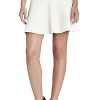 White BCBG Ingrid A-Line Skirt