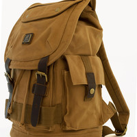 Heavy Duty Canvas School Rucksack with Leather Trims
