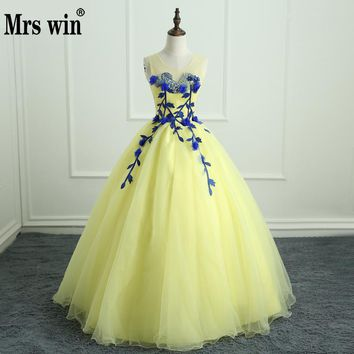 Lace Quinceanera Dress with Handmade Embroidery