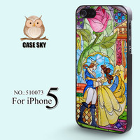 iPhone 5 Case Beauty and Beast Rose Glass Disney iPhone by casesky