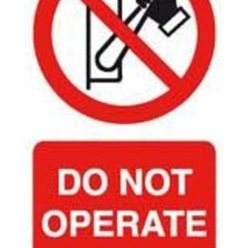Tie tag, Do not operate - Pack of 10