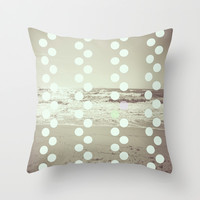 Bubble sea Throw Pillow by Pascal Deckarm Fine Art